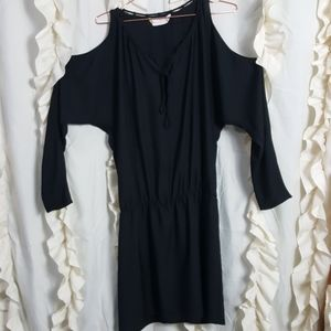 Amanda Uprichard little black dress cold shoulder